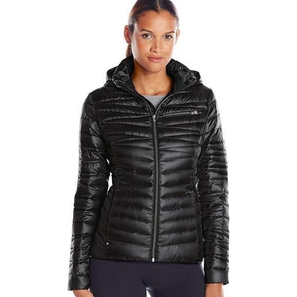 e7697e5b202 NEW Spyder Womens Timeless Down Hoody Jacket Black